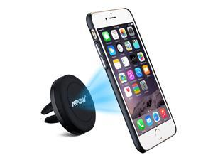 Mpow 360°rotation Magnetic Swivel Grip Magic Air Vent  Car Mount Holder with Built-in Metal Plate Iphone 6/6s Case and 2 Adhesive Metal Plates