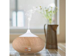 Patazon Larger 280ml Wood Grain Negative Ions Essential Oil Diffuser Ultrasonic Humidifier Air Purifier Whisper-quiet Cool Mist Humidifier Auto Shut Off for Home, Hotel, Hospital etc.