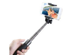 Mpow Compact Extendable Bluetooth Aluminum Monopod Portrait Selfie Stick with Adjustable Phone Holder Comfortably Fits iPhone 6, 5, 5s, 5c, 4s, 4, Samsung Galaxy,etc.