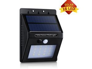 Patazon 16LED Solar Panel Powered Motion Sensor Lamp Outdoor Light Garden Security Light 320lm with Diamond Lampshade