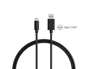 Type C Cable, USB3.1 Type-C to Standard USB 3.0 Charging Cable Data Cable for MacBook 12inch 2015, Nokia N1, One plus 2 and Other Type-C Devices (3.3ft/1m, Black)