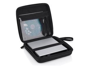 Hard Shockproof Carrying Case for External USB CD DVD Blu-Ray Drives, Hard Drive