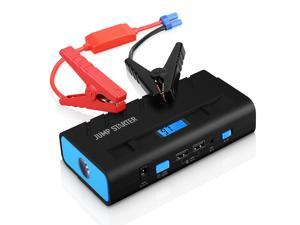 Car Jump Starter, Portable Power Bank 13600mAh Rechargeable Battery Buil-in LED Flashlight, for 12V 4.0L Gas/2.8T Diesel Engine
