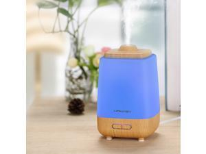 200ml Waterless Aroma Essential Oil Diffuser Humidifier with 7-Color LED Lights Changing