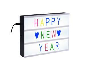 Patazon A4 Size Cinematic Light Box with LED Lights, 96 Colored Letters, Numbers and Signs