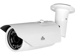 IPCC-9605E - 4X Optical Zoom (2.8-12mm), HD 1.3 Mega Pixel, IP66 Metal, POE Bullet Camera with 120Ft IR Nightvision, ONVIF, Synology, BlueIris compatible - color White