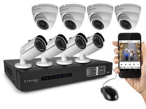 Amcrest 1080P 8CH Tribrid (IP/HDCVI) Video Security System - Eight 2.1 MP Weatherproof IP66 Bullet & Dome Cameras, 65ft IR LED Night Vision, 65ft IR LED Night Vision