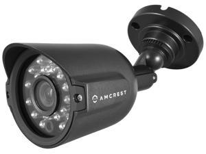 Amcrest AMC960HBC36-B 800+ TVL Bullet Weatherproof IP66 Camera with 65' IR LED Night Vision (Black) Power supply and coaxial video cable are NOT INCLUDED