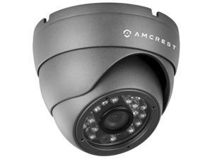 Amcrest AMC960HDC36-B 800+ TVL Dome Weatherproof IP66 Camera with 65' IR LED Night Vision (Black) Power supply and coaxial video cable are NOT INCLUDED