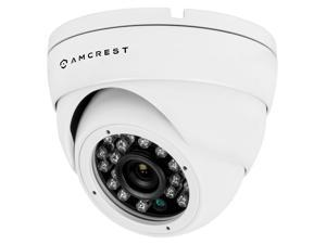 Amcrest AMC960HDC36-W 800+ TVL Dome Weatherproof IP66 Camera with 65' IR LED Night Vision (White) Power supply and coaxial video cable are NOT INCLUDED