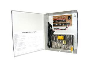 HQ-Cam CCTV Security 12V DC Power Distribution Box, 9 Channels & 5 Amp