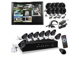HQ-Cam® 8 Channel H.264 960H DVR 8 x 700TVL 24IR Bullet Cameras 1080P HDMI