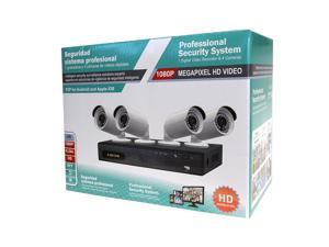 1080P H.264 Security System 4CH DVR with 4 x 36IR Bullet Cameras