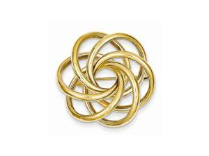 14k Yellow Gold Polished Circle Pin.