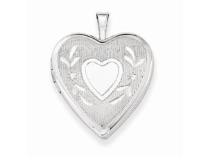 Sterling Silver 20mm D/C Heart Locket