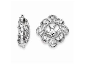 14k White Gold Diamond Earring Jacket (0.6IN Diameter)