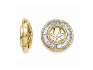 14k Yellow Gold Diamond Earring Jacket (0.5IN Diameter)