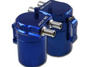 ADD W1 Blue Baffled Universal Aluminum Oil Catch Tank Can Reservoir Tank Blue Ver.1