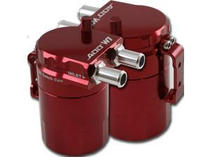 ADD W1 Red Baffled Universal Aluminum Oil Catch Tank Can Reservoir Tank Red Ver.1