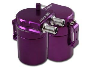 ADD W1 Purple Baffled Universal Aluminum Oil Catch Tank Can Reservoir Tank Purple Ver.1