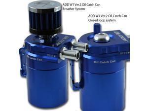 ADD W1 Blue Baffled Universal Aluminum Oil Catch Tank Can Reservoir Tank Ver.2