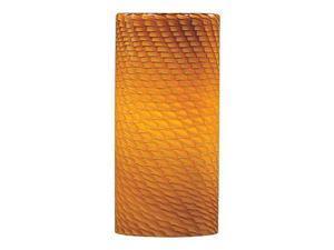 ET2 Lighting Amber Ripple Glass in Polished Chrome - EG90514