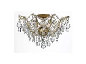 Crystorama Filmore 5 Light Ceiling Mount in Antique Gold - 4457-GA-CL-S