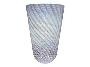 ET2 Lighting Grey Ripple Glass in Polished Chrome - EG90639