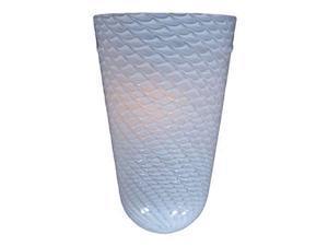ET2 Lighting White Ripple Glass in Bronze - EG90613