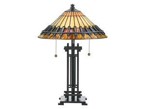 Quoizel 2 Light Chastain Tiffany Table Lamp - TF489T