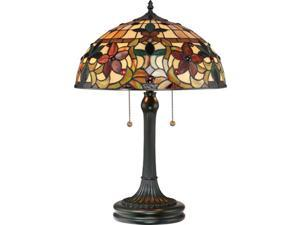 Quoizel 2 Light Kami Tiffany Table Lamp in Vintage Bronze - TF878T