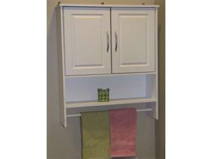 4D Concepts Bathroom 2 Door Wall Cabinet in White