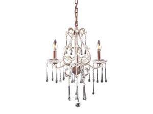 Elk Lighting Opulence 3 Light Chandelier in Rust and Clear Crystal - 4011-3CL