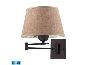 Elk Lighting 1- Light Swing Arm in Aged Bronze - 10291-1-LED