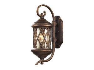 Elk Lighting Barrington Gate 1 Light Outdoor Sconce in Hazelnut Bronze - 42030-1