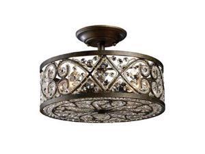 Elk Lighting Amherst 4-Light Semi-Flush in Antique Bronze - 11286-4