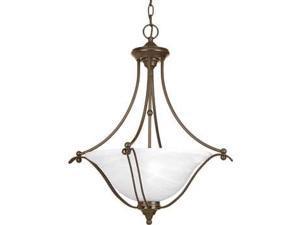 Progress Avalon 3-Light Foyer Alabaster Glass in Antique Bronze - P3773-20