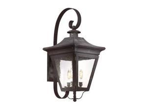 Troy Lighting Oxford 3 Light Wall Lantern in Charred Iron - B8933CI