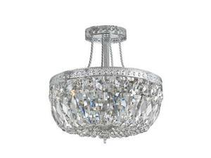 Crystorama Richmond Hand Cut Semi Flush Crystal Basket 119-12-CH-CL-MWP