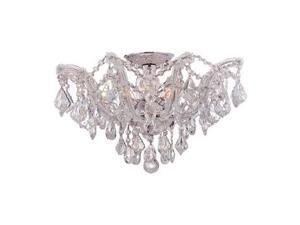 Crystorama Maria Theresa Semi Flush Mount Clear Swarovski Elements 4437-CH-CL-S