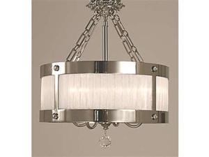 Framburg Astor 5 Light Semi Flush Mount in Polished Silver - 2164PS