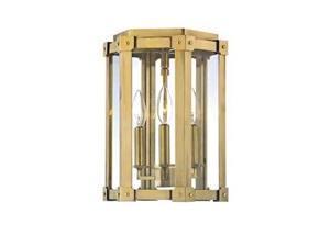 Hudson Valley Roxbury 3 Light Semi Flush in Aged Brass - 6200-AGB