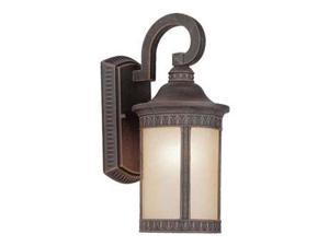 Forte 1 Light Cast Aluminum Outdoor Wall Lantern in Painted Rust - 1771-01-28
