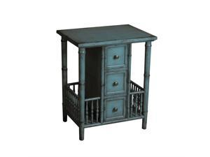 Accent Table in Distressed Teal by Pulaski