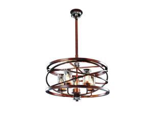 Kalco Eternity 5 Light Pendant, Etruscan Bronze - 6609EZ