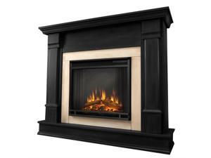 Real Flame Silverton Electric Fireplace in Black - G8600E-B