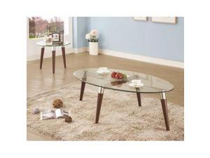 Coaster Coffee Table, Nickel - 702908