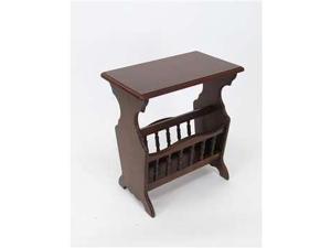 Wayborn Furniture Magazine Table, Dark Brown - 9125