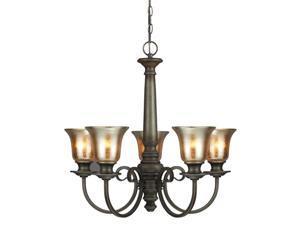 Sea Gull Lighting Blayne Chandeliers, Platinum Oak - 3170405BLE-736