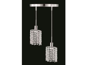 "Elegant 1282 RE Mini 2 Light 9"" Elegant Cut Pendant, Chrome - 1282D-R-E-CL-EC"